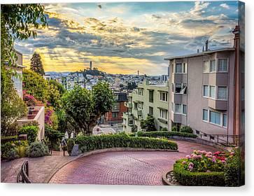 Lombard Street In San Francisco Canvas Print