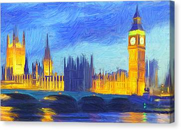 London 1 Canvas Print by Caito Junqueira