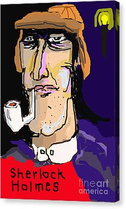 London And Sherlock Canvas Print by Joe Jake Pratt