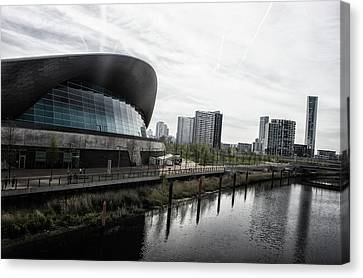 Garden Scene Canvas Print - London Aquatic Centre by Martin Newman