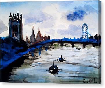 London Blue - Art By Dora Hathazi Mendes Canvas Print by Dora Hathazi Mendes