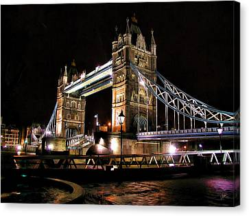 London Bridge At Night Canvas Print by Dean Wittle