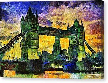 Canvas Print featuring the digital art London Bridge by Ian Mitchell