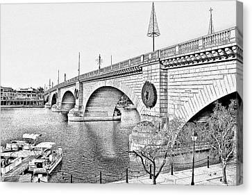 London Bridge Lake Havasu City Arizona Canvas Print by Christine Till