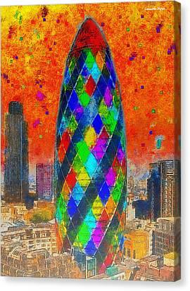 Intense Canvas Print - London Bullet 4 - Pa by Leonardo Digenio