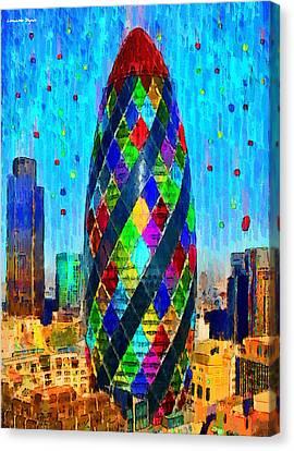 Mary Canvas Print - London Bullet 5 - Da by Leonardo Digenio