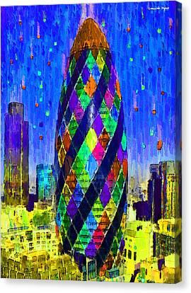 London Bullet 6 - Da Canvas Print by Leonardo Digenio