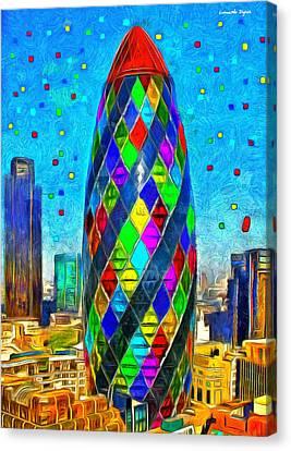 London Bullet 8 - Pa Canvas Print by Leonardo Digenio