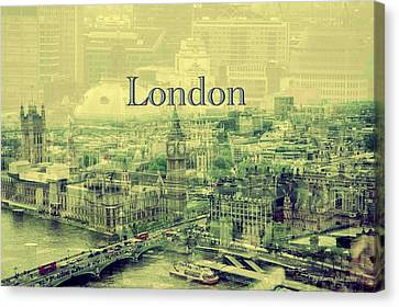 London Calling You Back Canvas Print by Karen McKenzie McAdoo