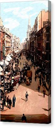 Canvas Print featuring the painting London Cheapside by James Shepherd