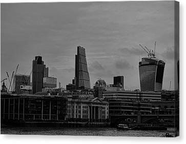 London City Canvas Print by Martin Newman