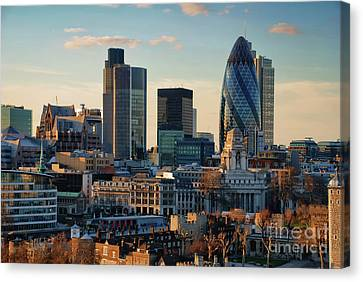 Canvas Print featuring the photograph London City Of Contrasts by Lois Bryan