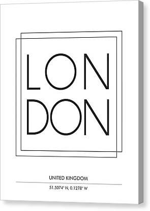 London City Print With Coordinates Canvas Print