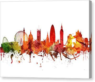 London Cityscape 04 Canvas Print by Aged Pixel