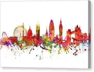 London Cityscape 08 Canvas Print by Aged Pixel