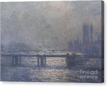 Water Scene Canvas Print - London by Claude Monet