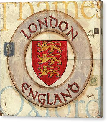 London Coat Of Arms Canvas Print by Debbie DeWitt