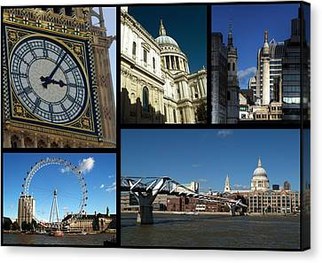 London Collage Canvas Print