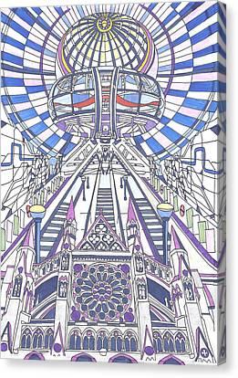 London Composition 2 Canvas Print by Ushma Sargeant