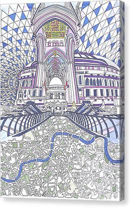 London Composition 4 Canvas Print by Ushma Sargeant