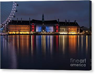 Hall Canvas Print - London County Hall by Nichola Denny