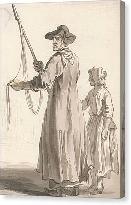 London Cries - A Lace Seller Canvas Print by Paul Sandby