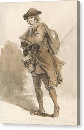 London Cries - A Man With A Bottle Canvas Print by Paul Sandby