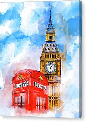 Canvas Print featuring the mixed media London Dreaming by Mark E Tisdale