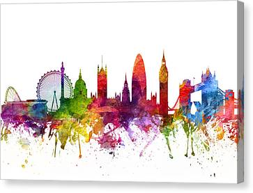 London England Cityscape 06 Canvas Print by Aged Pixel