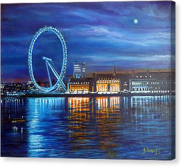 London Eye Canvas Print by Janet Silkoff