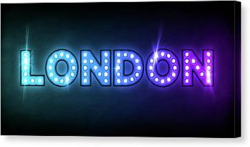 London In Lights Canvas Print by Michael Tompsett