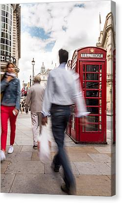 London In Motion Canvas Print