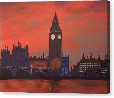 London Canvas Print by Jennifer Lynch