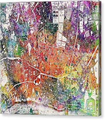 London Map  Canvas Print by Mark Ashkenazi