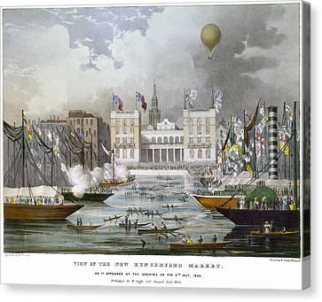 London: Market, 1833 Canvas Print by Granger