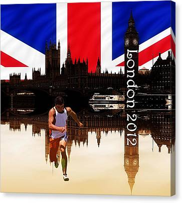 London Olympics 2012 Canvas Print by Sharon Lisa Clarke