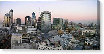 London Panorama From The Monument Canvas Print by Romeo Reidl