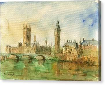 London Parliament Canvas Print