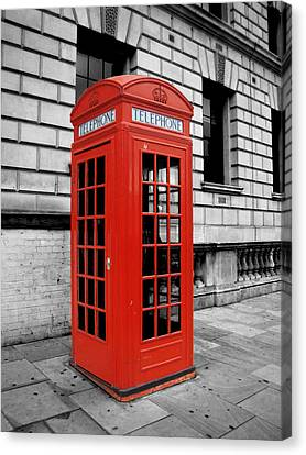 London Phone Booth Canvas Print by Rhianna Wurman