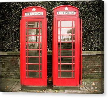 London Red Phone Booths Canvas Print