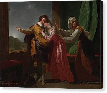 London Romeo And Juliet Canvas Print by Benjamin West