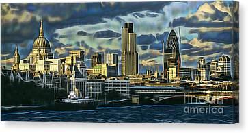 London Skyline Collection Canvas Print by Marvin Blaine