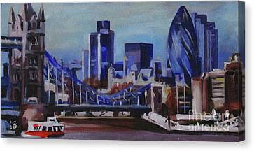 London Skyline Canvas Print by Ekaterina Bortsova