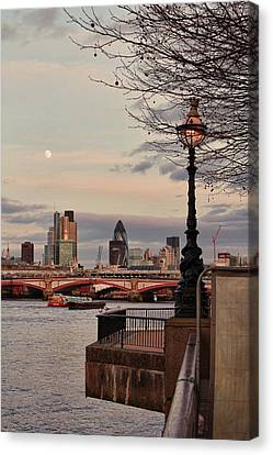 London Skyline From The South Bank Canvas Print by Jasna Buncic