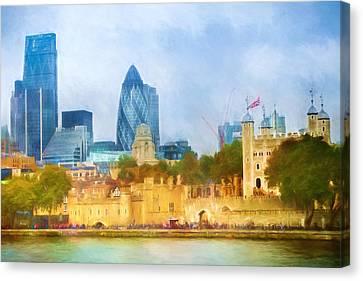 London Skyline Impression Canvas Print by Lutz Baar