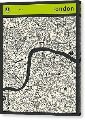 London Street Map Canvas Print by Jazzberry Blue