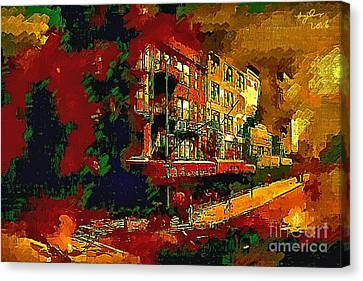 London Street Scene 10d Canvas Print by B W Tyler