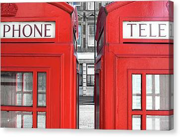 London Telephones Canvas Print by Richard Newstead