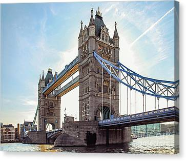 Canvas Print featuring the photograph London - The Majestic Tower Bridge by Hannes Cmarits