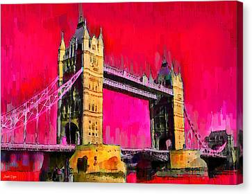 London Tower Bridge 10 - Da Canvas Print by Leonardo Digenio